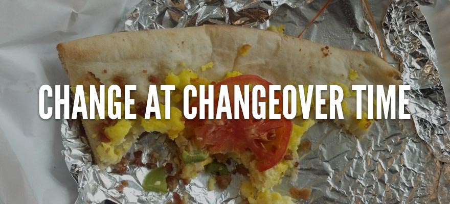 Reduce Food Waste with Change at Changeover Time